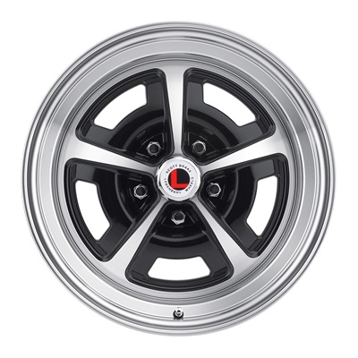 17x7 Magnum 500 Alloy Wheel, 5 on 4.5 BP, 4.25 BS, Gloss Black/ Machined