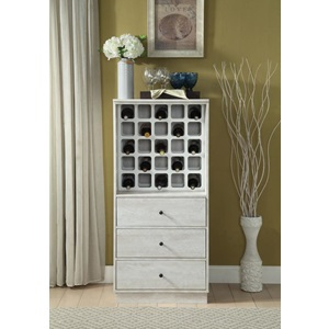 97544 ANTIQUE WHITE WINE CABINET