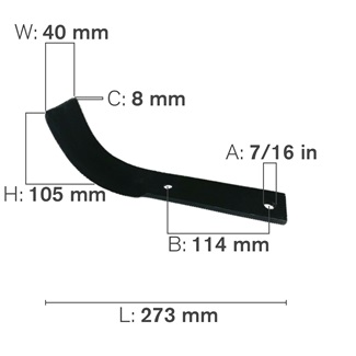 J Shaped Tillage Blade