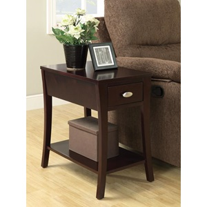 80295 ESPRESSO FINISH SIDE TABLE