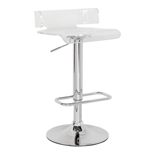96260 SWIVEL ADJ. STOOL W/CLEAR SEAT