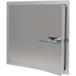 Exterior Access Door with Locking Handle
