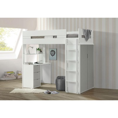 38050 NERICE GRAY TWIN LOFT BED