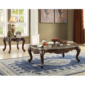 81675 COFFEE TABLE W/MARBLE TOP