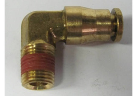 "Brass 1/8"" MPT x 1/4"" OD Tube Connector 90degree"