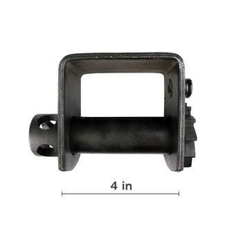 "Standard Weld on 4"" Winch, Black"