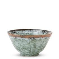 "Mashiko Green 5.25"" Rice Bowl"
