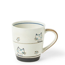 CALICO BLUE CAT MUG