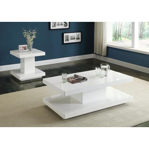 80728 WHITE COFFEE TABLE