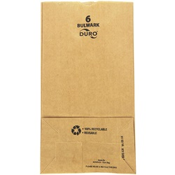6# HEAVY 52# GROCERY BAG, 6 X 3-5/8 X 11-1/16, DURO BULWARK, 500/BD   30906