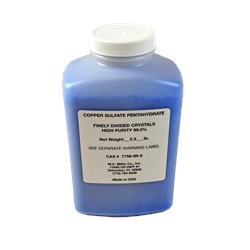 Copper Sulfate Crystals 2.5lb. Bottle