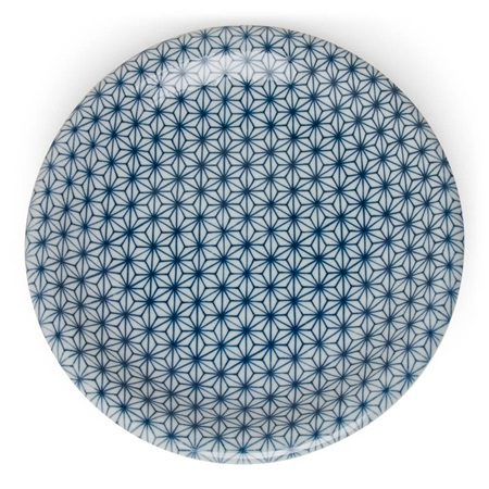 "ASANOHA COLORS 10"" PLATE - BLUE"