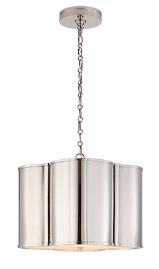 Small Hanging Shade in Polished Nickel
