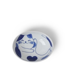 "Blue Cats 5"" x 3.75"" Oval Bowl"