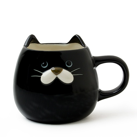 Cat Ear Mug 10 Oz. Black