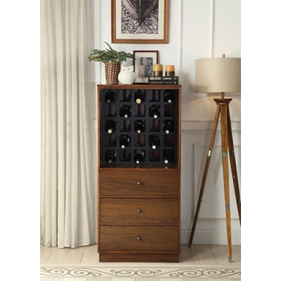 97542 WALNUT WINE CABINET