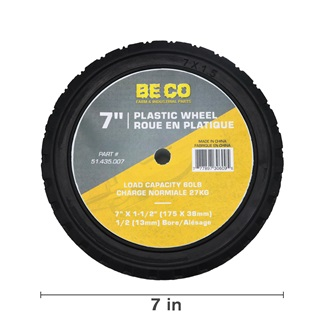 7 inch Plastic Wheel