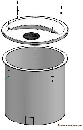 CCI - 145 Gallon Open Top Cone Bottom Tank - 36