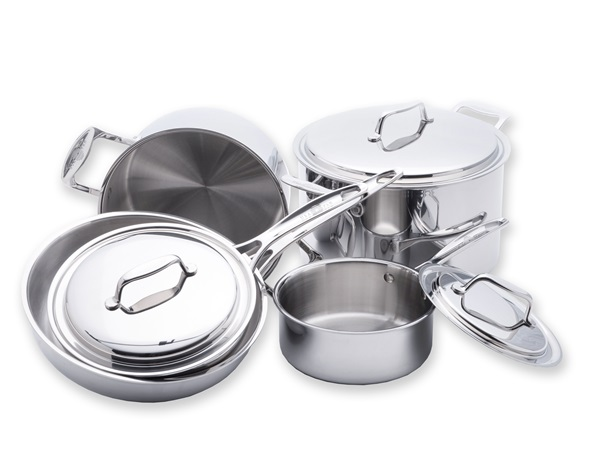 Usa Pan Usa Pan 8 Piece 5 Ply Stainless Steel Cookware Set