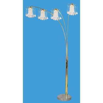 03678G KIT GOLD FLOOR LAMP W/MARBLE BASE