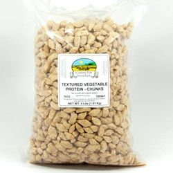 TVP Chunks, No Color or Flavor (4lb Bag)