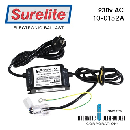 Ballast: 220v 50/60Hz European Plug, Alarm, LED