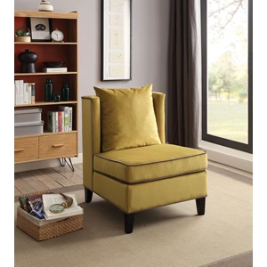 59570 CHARTREUSE YELLOW ACCENT CHAIR
