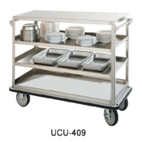 "Food Warming Equip UC-312 Queen Mary Utility Cart 24"" X 57"" Shelves"