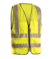 High Visibility Premium Solid Dual Stripe Surveyor Vests