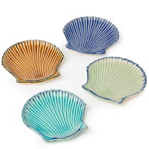 "SEASHELL 4.75"" PLATE SET"