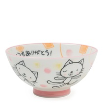 "Pink Cat 4.25"" Rice Bowl"