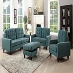 50246 TEAL FABRIC LOVESEAT