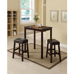 70540 3PC PK COUNTER H. DINING SET