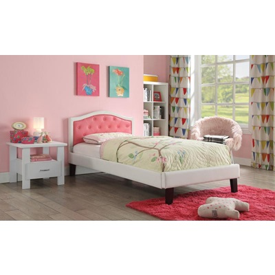 30790T PINK PU TWIN BED