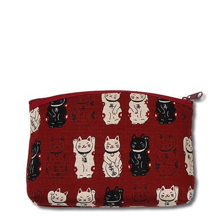 Purse - Red Fortune Cats