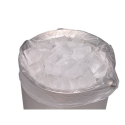 "6 X 6 X 12"" .5 MIL 3 QUART CLEAR ICE BUCKET LINER, 1000/CA"