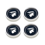 67-68 Original Cougar Hub Caps (Set, Black)