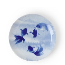 Blue Fish Swimming Plate
