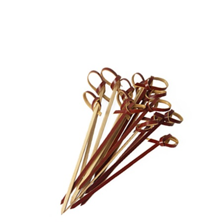 Knotted Brown Bamboo Skewers - 3.5""