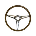 "1965-73 GT350 Style Genuine Wood & Aluminum 15"" 6 Hole Steering Wheel"