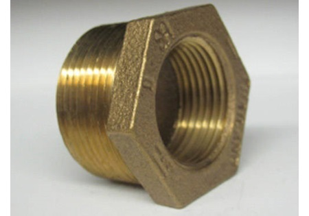 "Brass 1 - 1/4"" MPT x 1"" FPT Reducer Bushing"