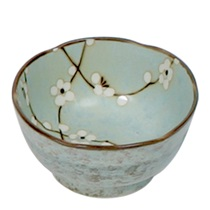 "SPRING BLOSSOMS 4.5"" SCALLOPED BOWL"