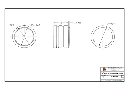 "15"" H X 20"" D Manhole Extension"