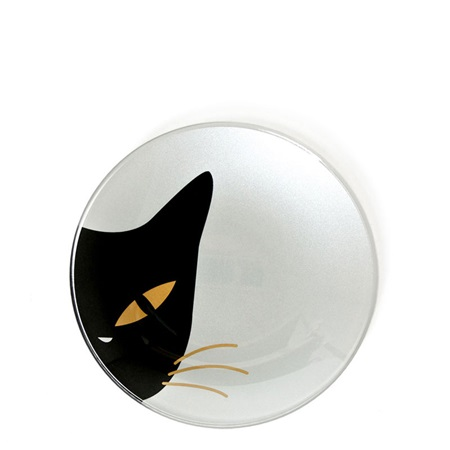 "Cat Eyes 3.5"" Mini Glass Dish - White"