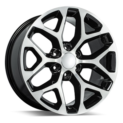 OE Replica 582 Series 20x9 6x139.7 - Gloss Black/Machined Face