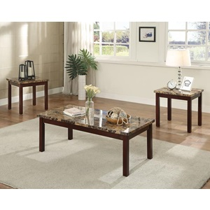 80035 3PC PK MARBLE C/E TABLE SET