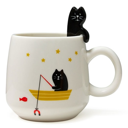 CAT MUG & SPOON SET