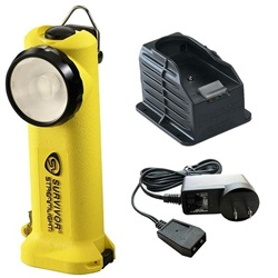 Streamlight Survivor Safety-Rated Firefighter's Right Angle Light, Rechargeable - 120V AC Fast Charge - Yellow NiCD