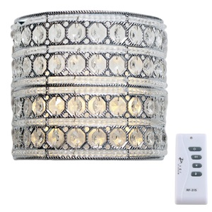 "8""H Crystal Glam Doll Cordless LED Wall Sconce"