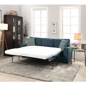 52293 BLUE FABRIC SOFA W/SLEEPER